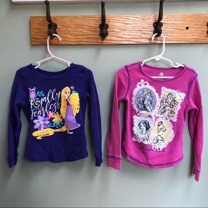 Two Disney Princess Long Sleeve Tops!